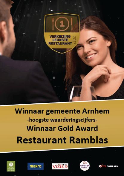 Award-Restaurant-Ramblas-Arnhem